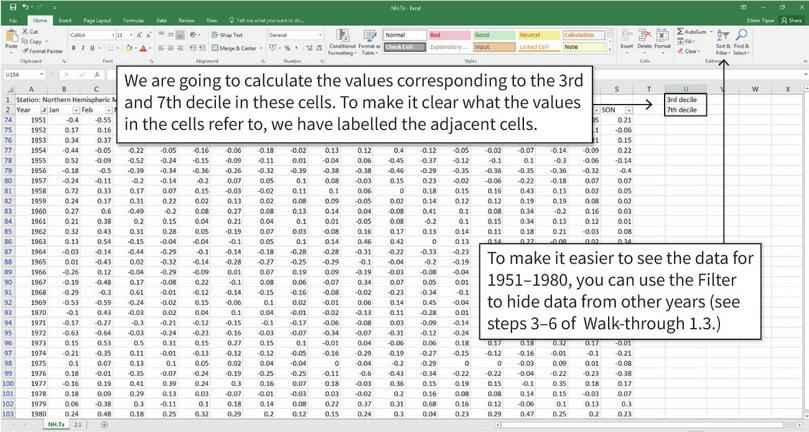 The data : We will be using the same data as in Excel walk-through 1.3.