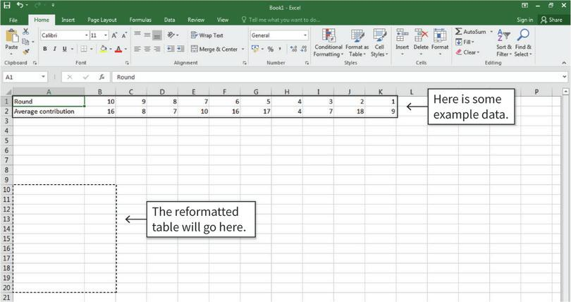 How to reformat a table.