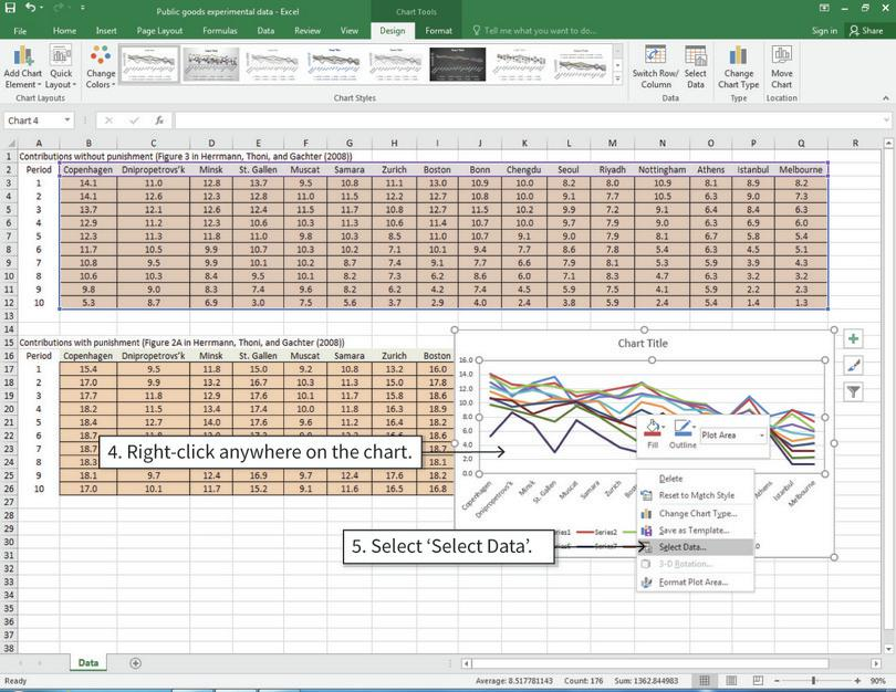 Switch the horizontal and vertical axis variables : We can switch the horizontal and vertical axis variables in the 'Select Data' options.