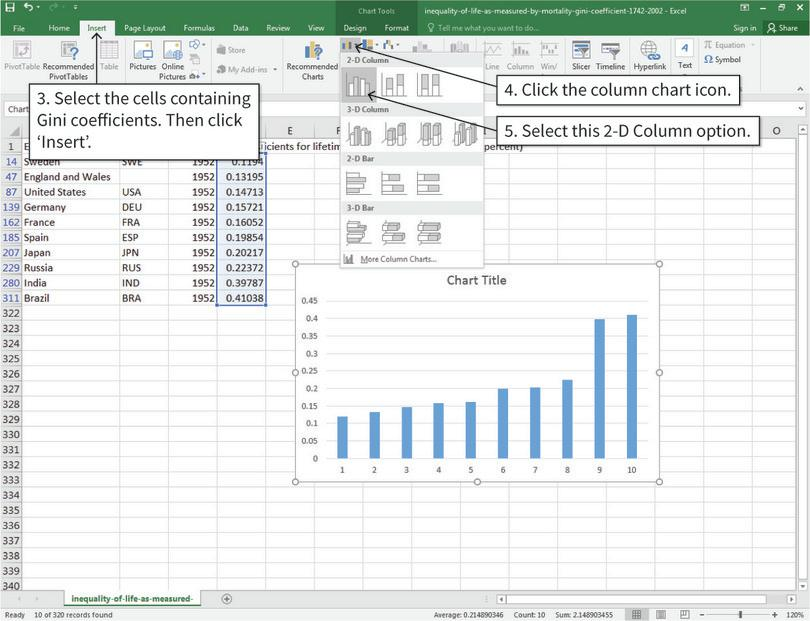 Doing Economics: Empirical Project 5: Working in Excel