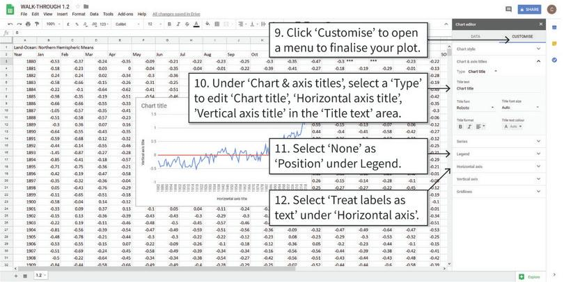 Add horizontal and vertical axis titles : After step 12, you chart should look similar to the one shown here.