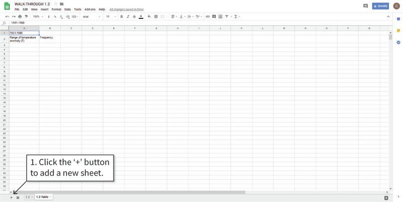 How to create a frequency table in Google Sheets.