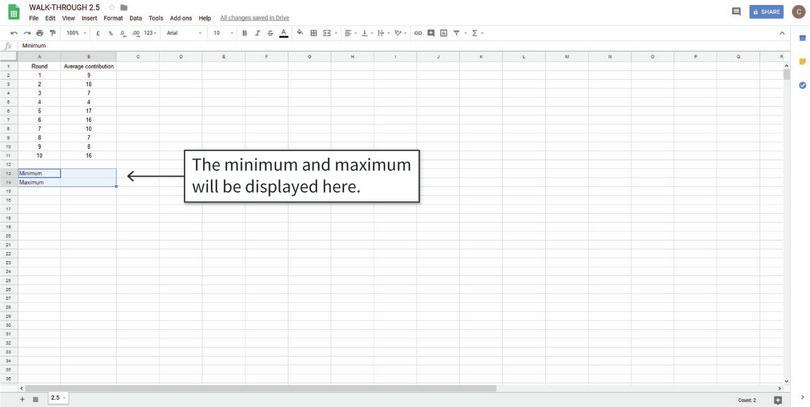 How to find the minimum, maximum, and range of a variable.
