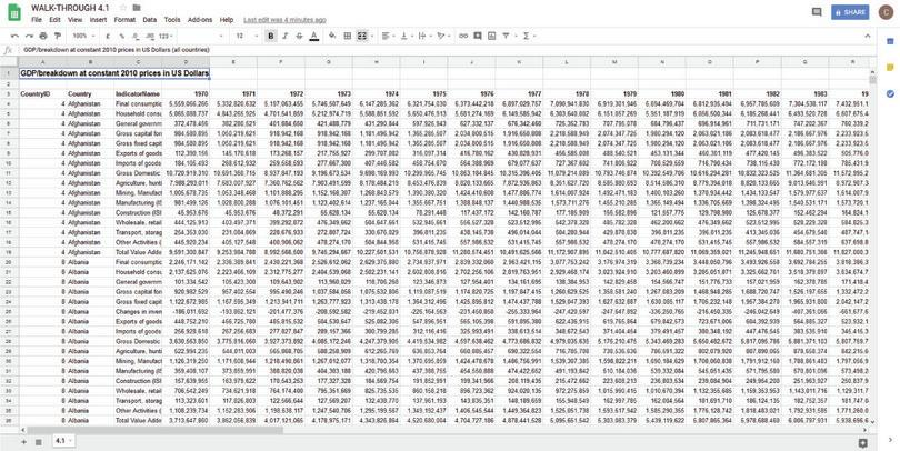 How to make a frequency table.