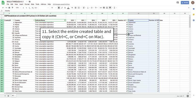 Copy the relevant data : Your table is ready to copy and paste into a new tab.