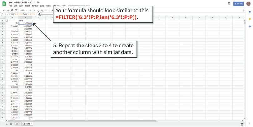 Filter the data : After step 5, we have the data needed to make the box and whisker plots.