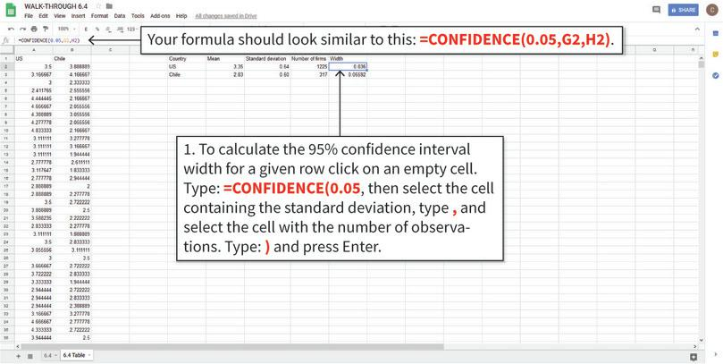 How to create confidence intervals and add them to a chart.