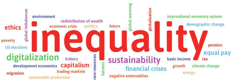 The word cloud in the preface made from responses of students at Humboldt University, which is dominated by inequality, is typical. Students globally have also told us they are interested in innovation, environmental problems, unemployment and instability.