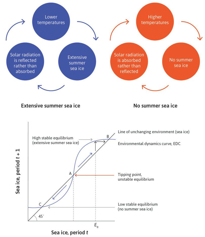 The environmental dynamics curve and the environmental tipping point.