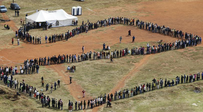 Elections in South Africa: FARRELL/AP/REX/Shutterstock